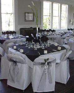 black and white reception area