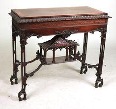c1940 Chippendale Revival pier table, mah, 41w,36t, 16-1       http://www.ebay.com/usr/circa19century