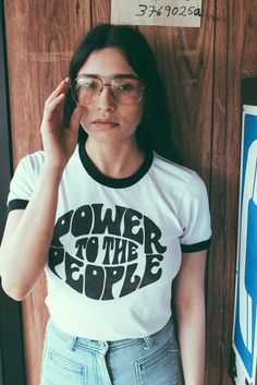 Power To The People Ringer Tee - The Power Plant