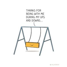 Funny Pun: Playground Swing - Thank you for journeying with me…♥️ - - -. Funny Cards, Cute Cards, Cute Quotes, Funny Quotes, Funny Humor, Funny Food Puns, Puns Jokes, Friendship Puns, Cute Puns