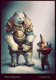 Il me fait penser à la trilogie de Philip Pullman : A la croisée des mondes Armored Bear by Marco Mazzoni