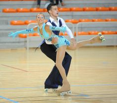 Couples roller dancing at the World Dancesport games 2013