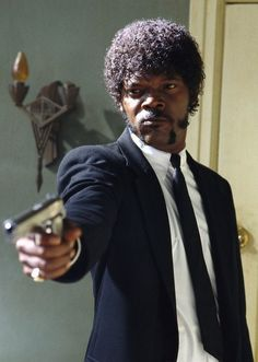 Samuel L. Jackson, the man with the wallet.