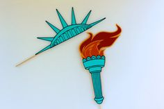Statue of Liberty Photo Booth Props by PAPERandPANCAKES on Etsy