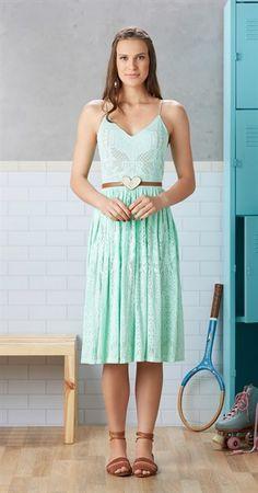 Só na Antix Store você encontra Vestido Midi Rede de Renda com exclusividade na…