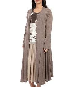 This Brown Pleated Duster is perfect! #zulilyfinds