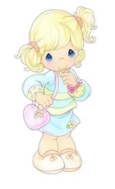 Precious Moments - reminds me of M! Precious Moments Quotes, Precious Moments Coloring Pages, Precious Moments Figurines, Cute Images, Cute Pictures, Real Madrid Wallpapers, Image Deco, Image Clipart, Sarah Kay
