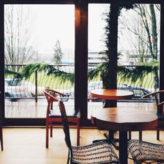 """""""This cafe has the best view  #cafe #giantwindowserrwhere"""" Image by @sunni_chen"""