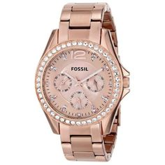 Fossil Women's Riley Rose Gold Bracelet Watch - - No Size Hippie Chic, Hippie Style, Hippie Fashion, Stainless Steel Jewelry, Stainless Steel Watch, Fossil Jewelry, Jewelry Watches, Rose Watch, Ear Cuffs