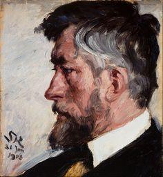 P.S. Krøyer - Portrait de J.F. Willumsen