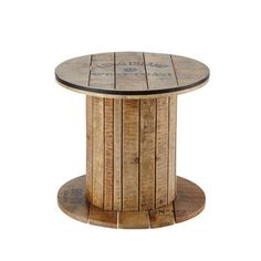 Bijzettafel, mangohouten haspel, diameter 50 cm - Sailor