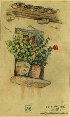 Quadern de dibuix de Joaquim Renart. 07, Realitzat entre el 13 de maig de 1915 i el 24 de febrer de 1916 :: Materials gràfics (Biblioteca de Catalunya)