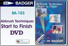 Badger BA103 Airbrush Techniques Start to Finish DVD