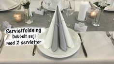 Easy Napkin Folding Table Decoration Ideas (beautiful napkins) for beginners – Desserts Easy Napkin Folding, Table Etiquette, Kids And Parenting, Napkins, Table Settings, Table Decorations, Youtube, Beautiful, Home Decor
