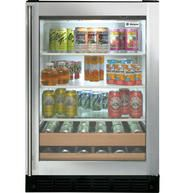 This Beverage Center by Monogram offers cu. of capacity which can hold up to 126 cans and 10 bottles of wine. The beverage center also features LED interior lighting. spillproof glass shelves and half size wine racks with wood fronts. Beverage Refrigerator, Compact Refrigerator, Wine Fridge, Ottawa, Calgary, Monogram Appliances, Toronto, Wine Dispenser, Ikea