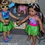 Doll Play Day 32 Have a Beach Smoothie Party & Make Hula Skirts