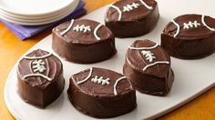 You'll score a touchdown at any party when you make these rich chocolaty brownies in this fun shape!