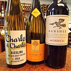 Here at Bag & String, we are never satisfied with the status quo. This week is all new wine here at the shop and each one was brought in to up our game.  Charles & Charles Art Den Hoed Vineyard Riesling, 2013 Pommier Chablis  and Banshee Vineyards Mordecai Red Blend. #charlesandcharles #wawine #chablis #bansheewines #redblend #winetasting #winetime #vino #winelover #sonomawine #frenchwine #instawine #lakewoodny #chq  #cheers