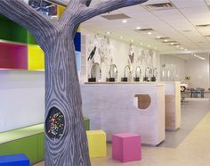 Salon for the kids and adluts. I thought the tree was a cool idea.