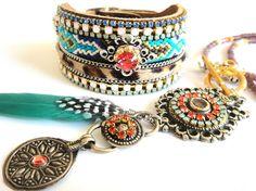 Bohemian hippie necklace   Long beaded gypsy by OOAKjewelz on Etsy