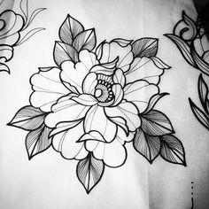 Tatoo Flowers, Peonies Tattoo, Flower Tattoos, Dream Tattoos, Future Tattoos, Body Art Tattoos, Tattoo Sketches, Tattoo Drawings, Tatto Floral