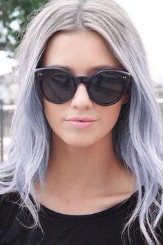 Gray lila-ombre