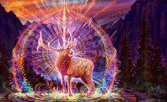 "Threyda | Art & Goods | ""Elk Song"" - Simon Haiduk  #vibes #indigo #moonchild#consciousness #kundalini #spaceporn #synchronicity #alchemy #highervibes #chakra #goddess #higherself #moonphases #om #divine #thirdeye #threyda #peace #awakening #crystals #love #art #hippie #universe #cosmos #zen #psychedelic #goodvibes #magic #denver #colorado #trippy #painting #sculpture #digitalart #visionaryart #simonhaiduk #threyda"
