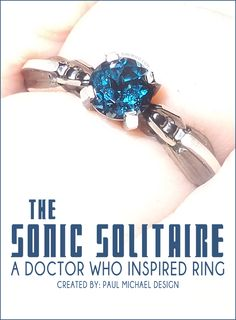 The Sonic Solitaire - a #DoctorWho inspired ring. Perfect for any companion! Find out how to get this surprisingly affordable piece of #jewelry.