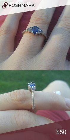 Sapphire white topaz ring Sapphire white topaz ring Samuels Jewelers Jewelry Rings