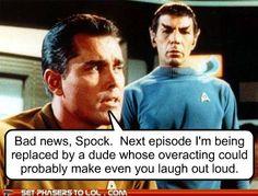 Bad news Spock....