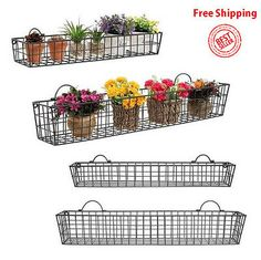 Amazon.com: Wall Mounted Black Metal Wire Mesh Numbered Storage ...