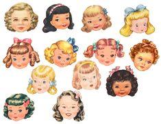 Paper Doll Craft, Paper Toys, Paper Crafts, Vintage Easter, Vintage Valentines, Vintage Christmas, Vintage Paper Dolls, Vintage Crafts, Pipe Cleaner Crafts