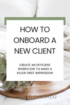 You've signed your dreamy clients, now impress them even more with a seamless client onboarding