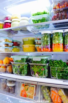 "Whole food plant based living starts with your fridge!  Maybe you've recently seen ""What the Health"" or ""Cowspiracy"" or ""The Big Fat Truth"" and you feeling inspired to go plant based!  Guess what?  Your fridge is going to become your best friend!  It's all about doing some simple prep work so you can eat from your  refrigerator as much as possible!  Click through to see how I've done it for the past 4 years and how I share the fridge with my family too!  xo, Kristen  #fridgegoals…"