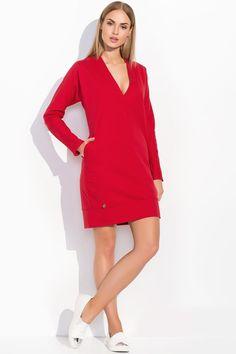 Sukienka Makadamia M299 - czerwony