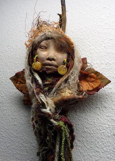 Secret Garden  Dryad Assemblage OOAK Art Dolls by awesomeart
