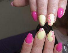 Fucsia glamour pink giallo minio fiori strisce