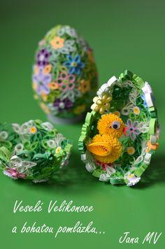 Hezké Velikonoce a malé ohlédnutí za kurzy dutých kraslic | Quilling.cz