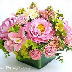 #керамическаяфлористика #цветы #цветыизглины #ручнаяработа #флористика #букет #красиво #розовый #vkpost #handmade #polymerclay #clayflowers #flowers #bouquet