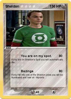 The Sheldon Cooper trading card