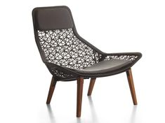 High-back rope garden armchair Garden armchair Maia Rope Collection by KETTAL | design Patricia Urquiola