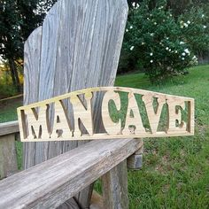 wood man cave sign door topper by manwood on Etsy, $25.00