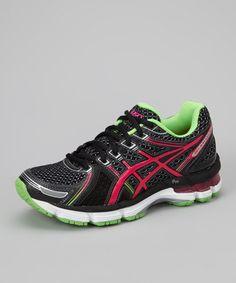 1470db13c060c ASICS Black   Electric Pink GEL-Kayano 19 GS Running Shoe - Girls