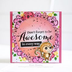 stay awesome, people. all stamps are from @waffleflowercrafts  . . #waffleflowercrafts #madewithloveindonesia #crafts #handmadecard #papercraft #cardmaking #stayawesome