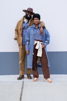 Pieces from our Men's Lee 101 Collection like our 70s Workwear jacket, layered over our Workwear Shirt and paired with our 70s Carpenter Workwear Pant make the perfect winter outfit. Pieces from our Women's Vintage Modern Collection like our Barn Jacket and High Rise Corduroy Stovepipe Straight Jeans, layered with other pieces like our Lady Lee Shirt also make for the perfect winter look with its oversized fit and vintage style. Man Lee, Lee Jeans, Winter Looks, Our Lady, Vintage Modern, Vintage Style, Work Wear, Winter Outfits, Vintage Ladies