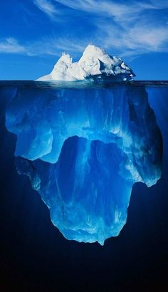 Iceberg in a deep blue , from Iryna