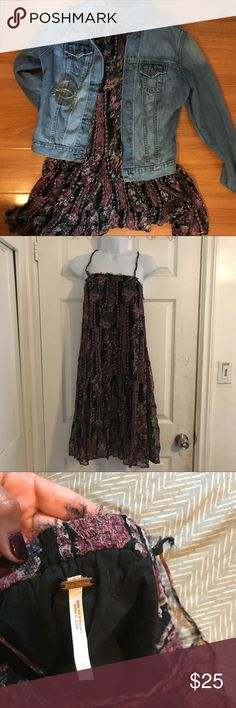 Free People Tank Dress • available for sale until Sun 10/1. Don't wait! • black with magenta and team accents • size S by Free People • note the ends are supposed to have a frayed look. Also note the back has a strap that I had to tie on but you can stitch it  • Questions? Just ask!  • Bundle to save • Use the offer button to negotiate   ❤︎ @sabineforever | Instagram & Pinterest  ❤︎ sabineforever.com for style, beauty, lifestyle and more fashion & accessories ❤︎personal shopping & styling…