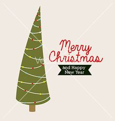 Christmas tree vector by grmarc on VectorStock®