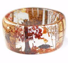 Autumn Forest Resin Bracelet