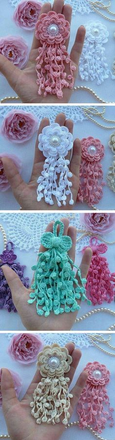 Crochet Flower Ornament by Aprende Con Diana Crochet Flower Ornament by Aprende Con Diana - Design Peak, Today we are going to share with you a beautThis crochet pattern / tutorial is available for free… Full post: Crochet Flow…A Collection of cr Crochet Diy, Beau Crochet, Crochet Flower Tutorial, Crochet Motifs, Thread Crochet, Love Crochet, Beautiful Crochet, Irish Crochet, Crochet Crafts